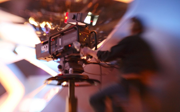 TV camera in a TV studioVARIOUS