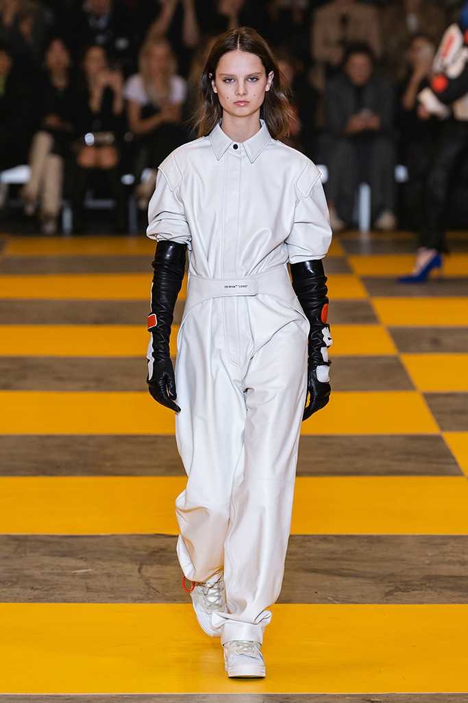Model on the catwalkOff White show, Runway, Fall Winter 2019, Paris Fashion Week, France - 28 Feb 2019