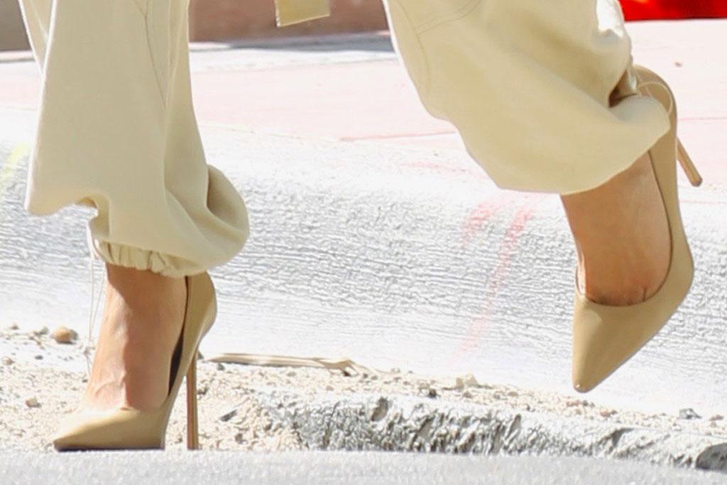 olivia culpo, high heels, cargo pants, stuart weitzman, fendi, miami, south beach, celebrity style