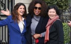 oprah, fans, paris fashion week