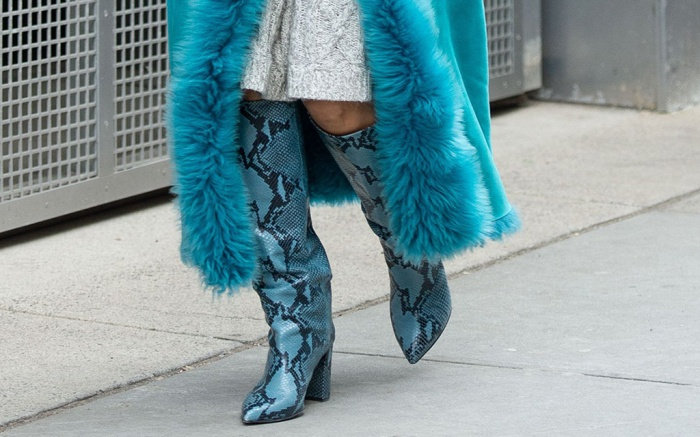Paris Texas, snakeskin boots, nyfw, fall 19, aimee song
