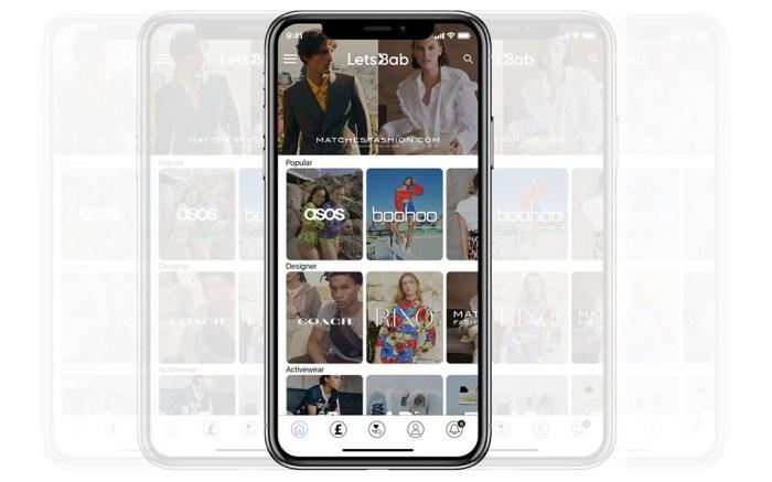 LetsBab, e-commerce app, smartphone