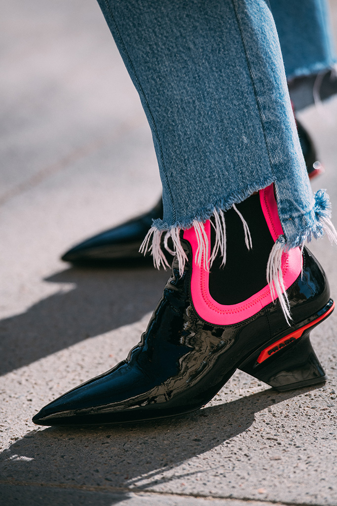 prada boots, paris fashion week