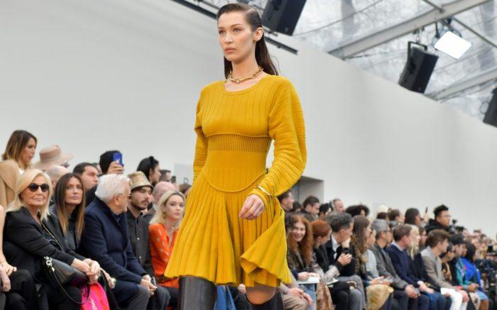 Bella Hadid on the catwalkRoberto Cavalli show, Runway, Fall Winter 2019, Milan Fashion Week, Italy - 23 Feb 2019