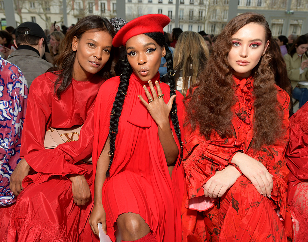 Liya Kebede, Janelle Monae and Katherine Langford in the front rowValentino show, Front Row, Fall Winter 2019, Paris Fashion Week, France - 03 Mar 2019