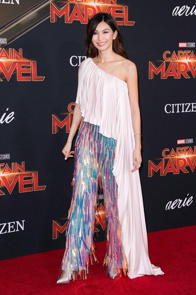 Gemma Chan, 'Captain Marvel' film premiere, Arrivals, El Capitan Theatre, Los Angeles, USA - 04 Mar 2019