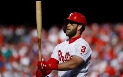Philadelphia Phillies' Bryce Harper in action