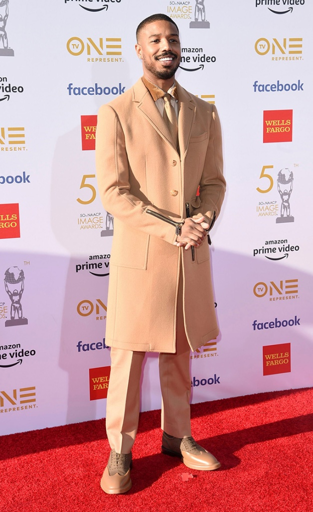 Michael B. Jordan, burbby arrives at the 50th annual NAACP Image Awards, at the Dolby Theatre in Los Angeles50th Annual NAACP Image Awards - Arrivals, Los Angeles, USA - 30 Mar 2019