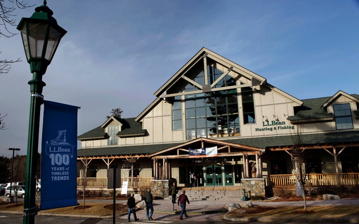 Shoppers arrive at the L.L. Bean retail store in Freeport, Maine. L.L. Bean officials said, the company plans to make a bigger push into retail stores by more than tripling the number of locations over the next five yearsLL Bean, Freeport, USA