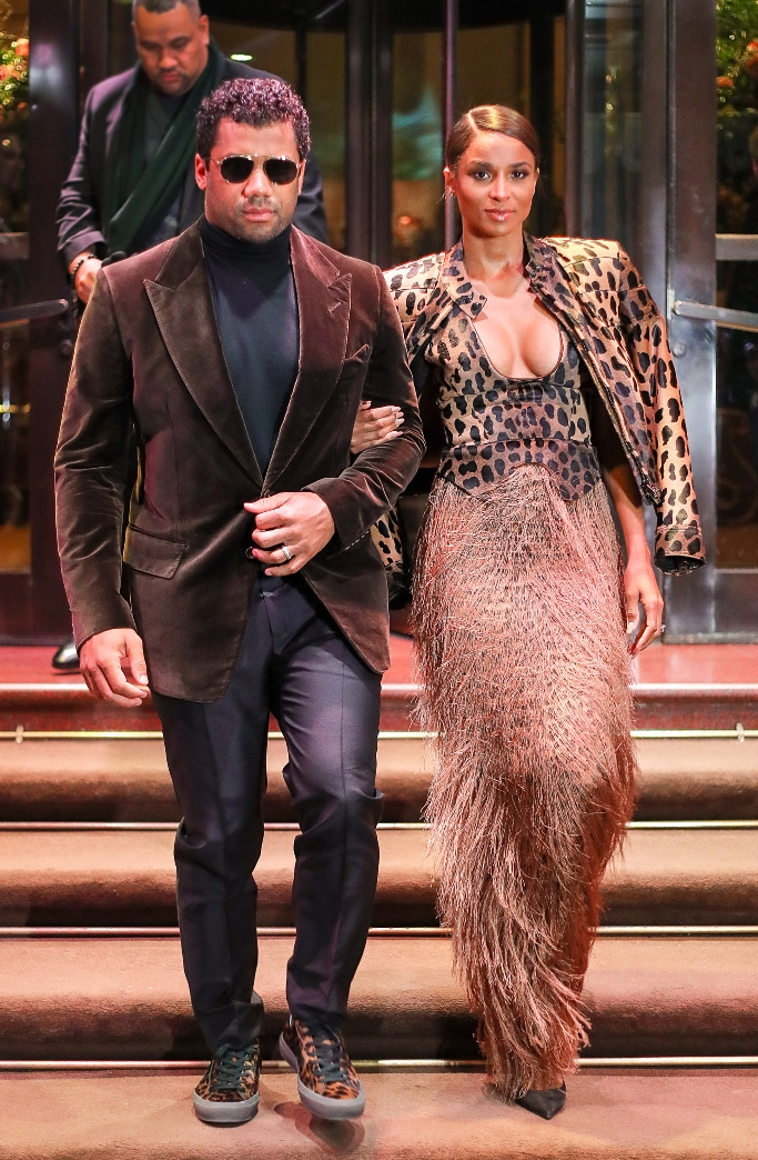 ciara and russell wilson, tom ford spring 2019, christian louboutin, leopard sneakers
