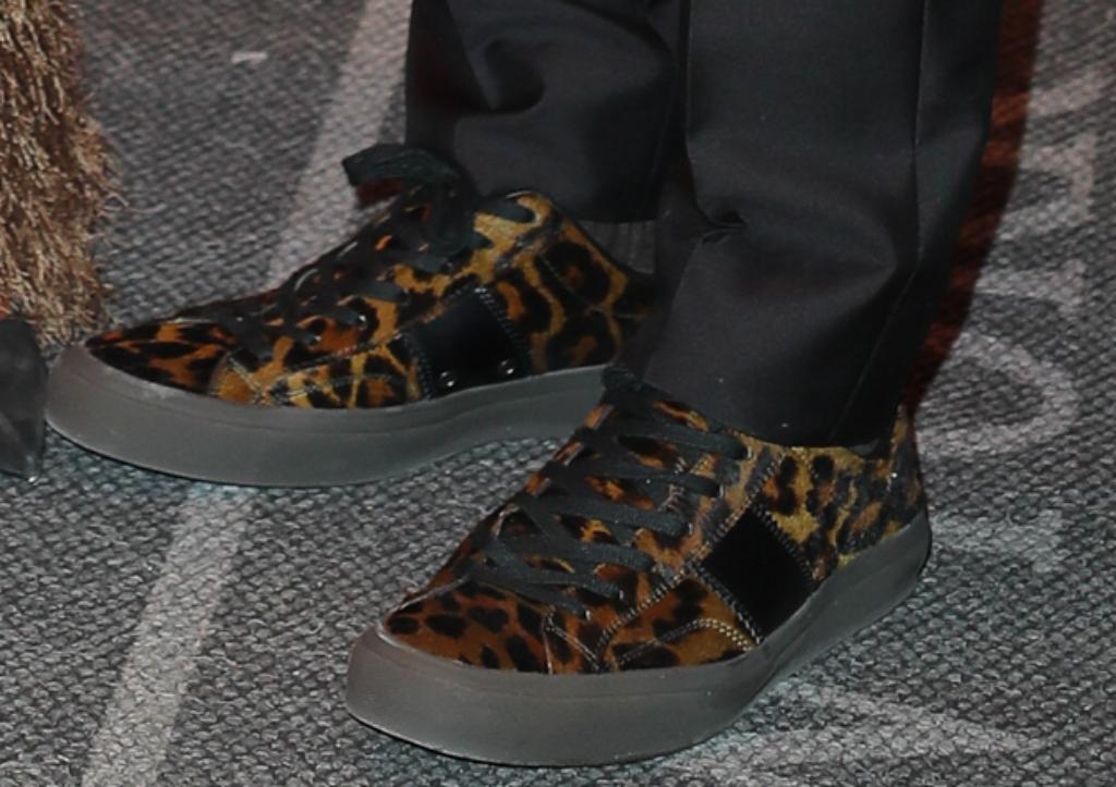 russell wilson, men's leopard print sneakers