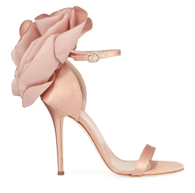 Giuseppe Zanotti Satin Flower High Sandals