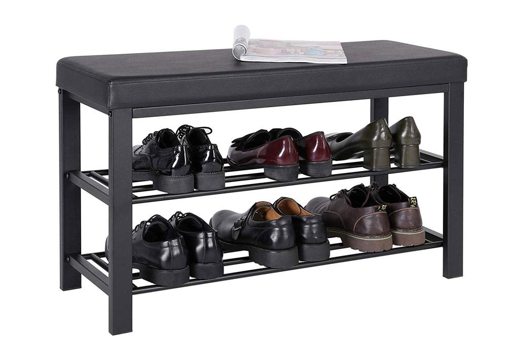 Songmics shoe bench, shoe shelves