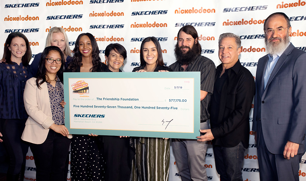 The Skechers Foundation presents a check to the Friendship Foundation, michael greenberg