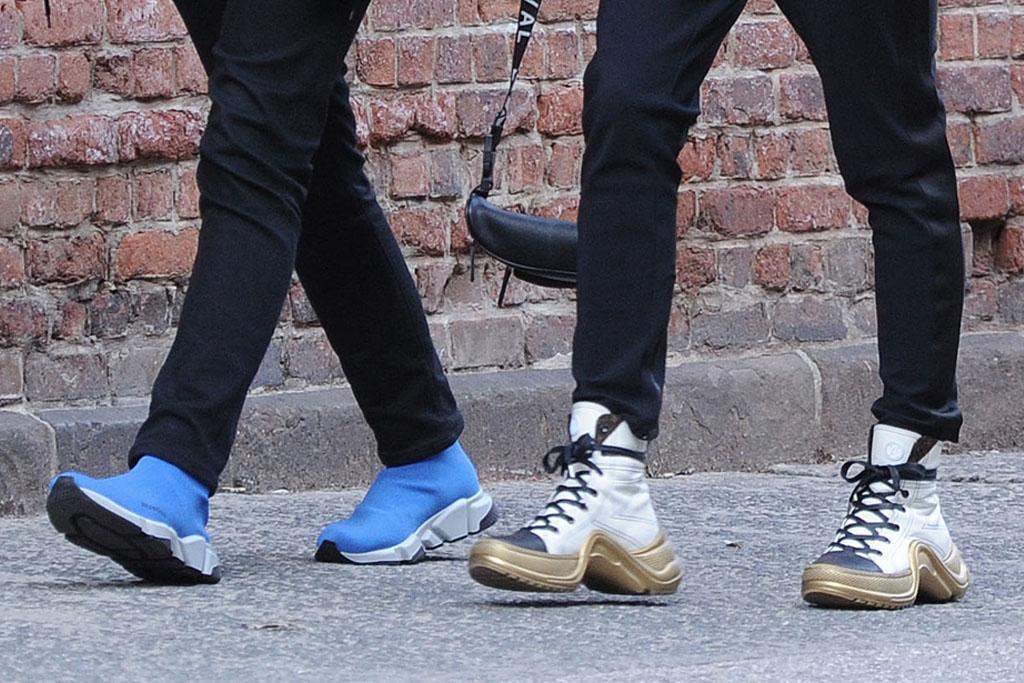 joe jonas, sophie turner, balenciaga sneakers, louis vuitton boots