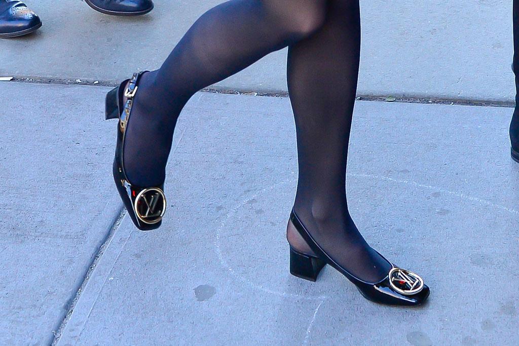 Sophie Turner, Louis Vuitton slingbacks