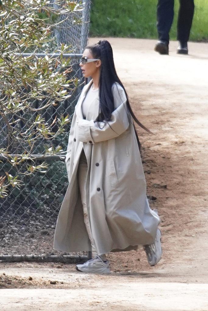 Kim Kardashian Goes to Church in Yeezys