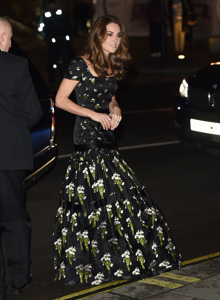 Kate Middleton wears Alexander McQueen to the National Portrait Gallery Gala.