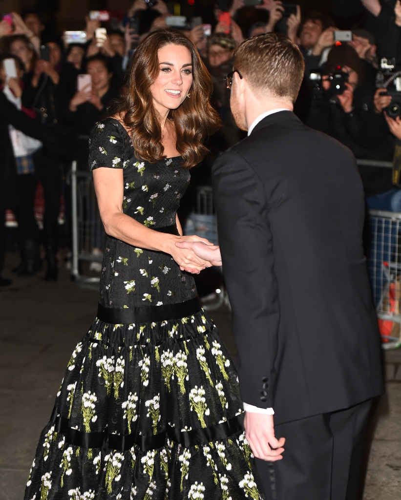 Kate Middleton arrives at the National Portrait Gallery Gala.