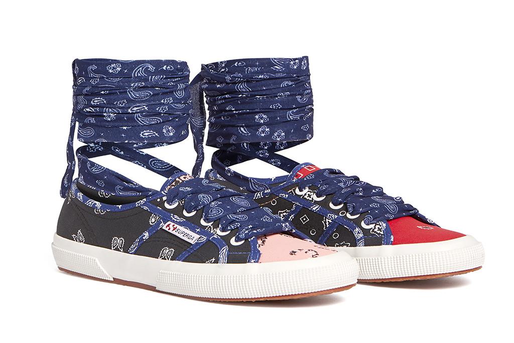 Alanui and superga sneaker, music festival shoes