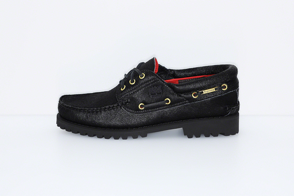 SupremexTimberland, 3-Eyed Classic Lug Shoe, black, boat shoe, calf hair