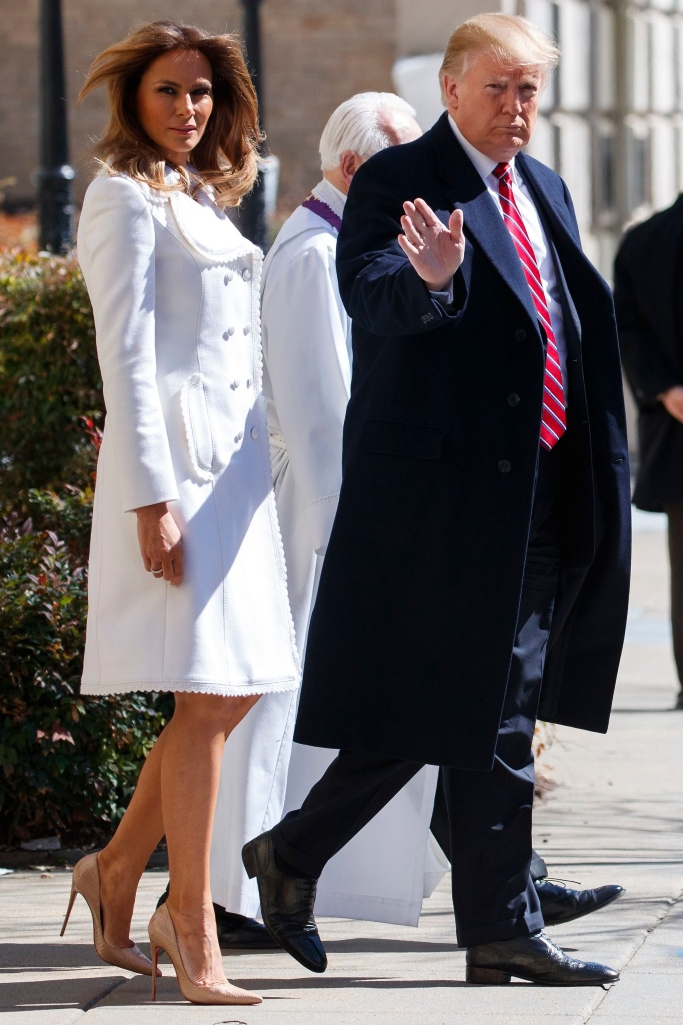 melania trump, president donald trump, st. patrick's day