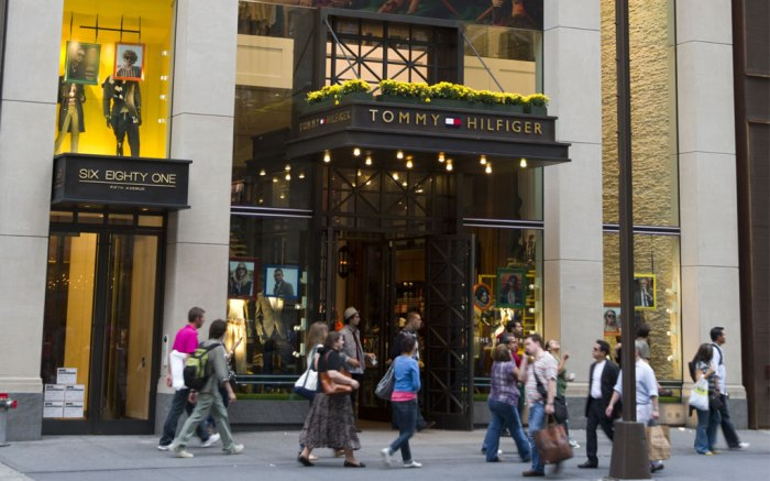 Tommy Hilfiger store on 5th Avenue, New York City, America, USA
