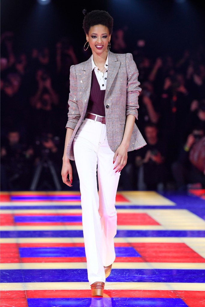 tommy hilfiger, fall 2019, runway, office look