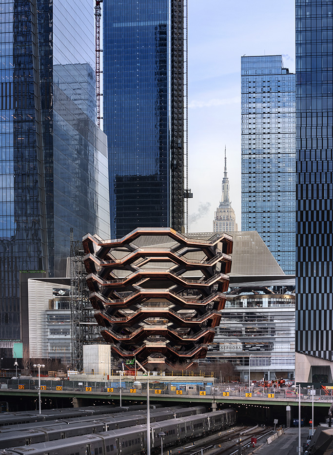 "The ""Vessel"" structure, designed by Thomas Heatherwick."