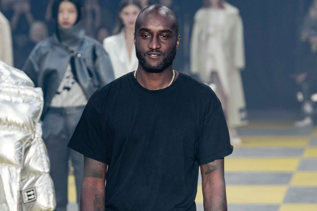 Off White show, Runway, Fall Winter 2019, Paris Fashion Week, France - 28 Feb 2019 Virgil Abloh on the catwalk
