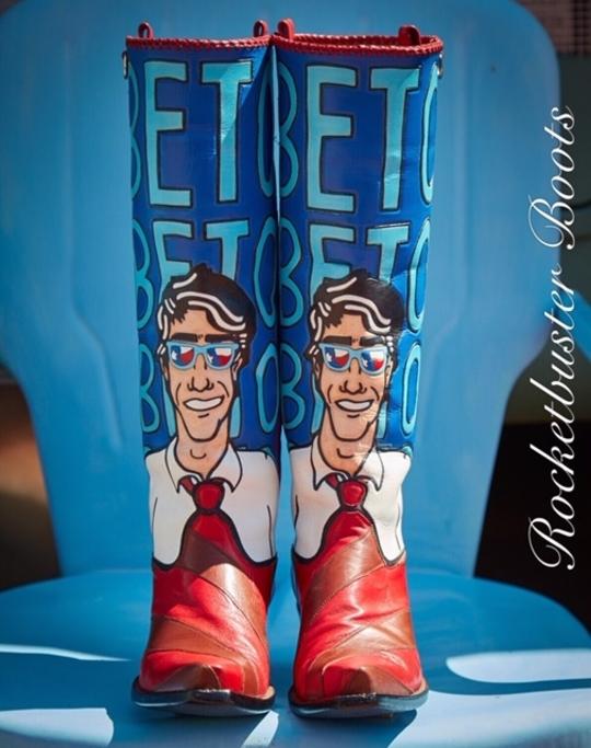 Beto O'Rourke boots