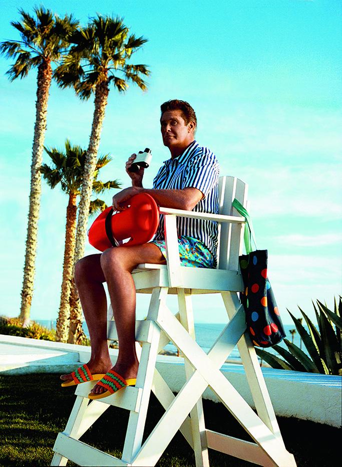 david hasselhoff, happy socks, the hoff