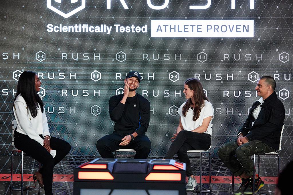 Kelley O'Hara, Steph Curry and Cari Champion, under armour, UA rush, director Gotham Chopra