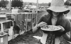 WOODSTOCK A girl helps herself to