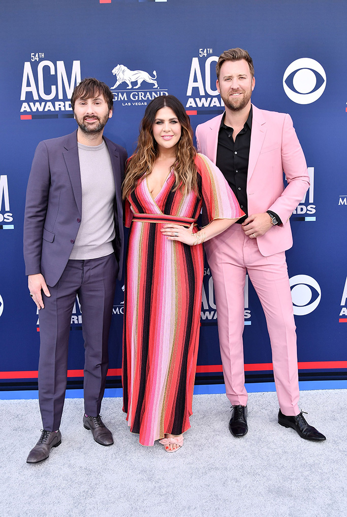 Dave Haywood, Hillary Scott and Charles Kelley of Lady Antebellum54th Annual ACM Awards, Arrivals, Grand Garden Arena, Las Vegas, USA - 07 Apr 2019