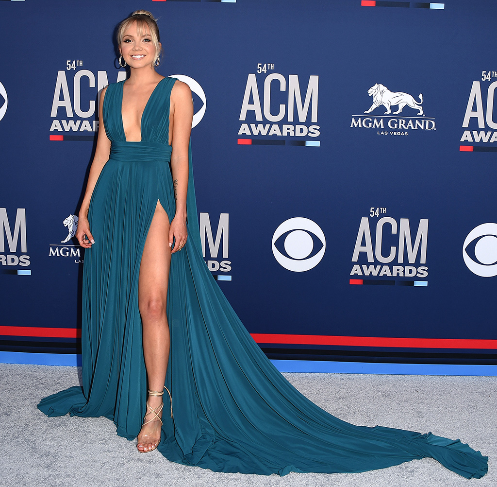 Danielle Bradbery, jason grech dress, ritch erani sandals, 54th Annual ACM Awards, Arrivals, Grand Garden Arena, Las Vegas, USA - 07 Apr 2019