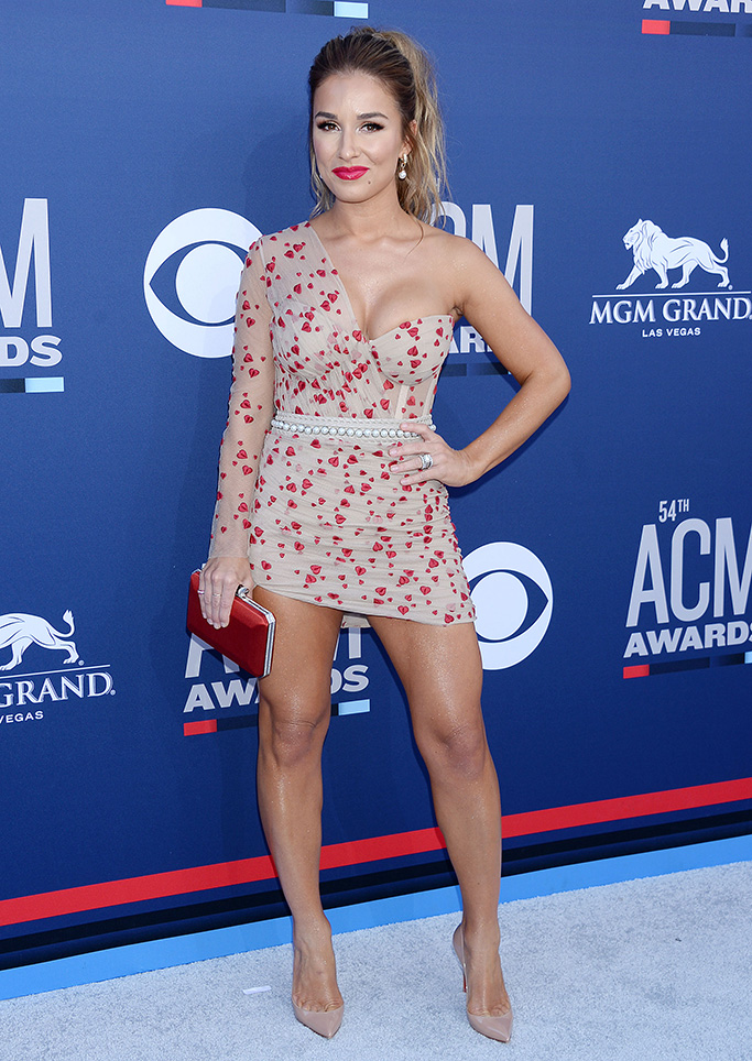 Jessie James Decker, christian louboutin heels, 54th Annual ACM Awards, Arrivals, Grand Garden Arena, Las Vegas, USA - 07 Apr 2019