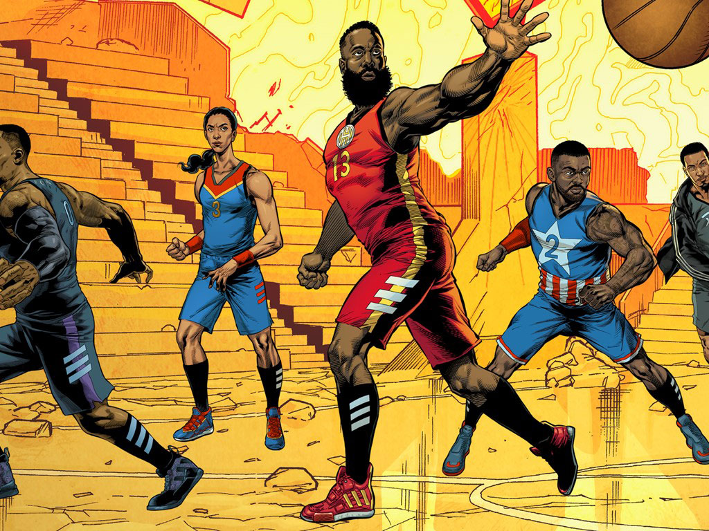 Adidas Basketball x Marvel Sneakers