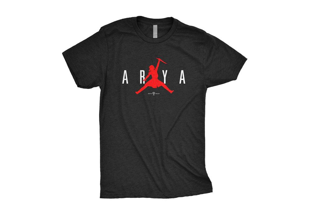 entidad Consistente retrasar  Arya Air Jordan Shirt Spawns 'Game of Thrones' Memes: Get It for $25 –  Footwear News