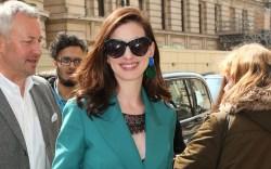 Hollywood actress arrives back at hotel