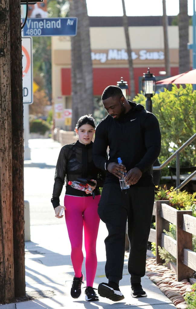 Ariel Winter, pink leggings, puma mesh top, sports bra, nike sneakers, goes to the gym. 10 Apr 2019 Pictured: Ariel WInter. Photo credit: MEGA TheMegaAgency.com +1 888 505 6342 (Mega Agency TagID: MEGA397947_019.jpg) [Photo via Mega Agency]
