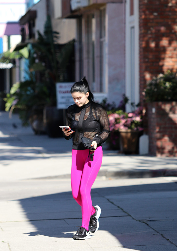 Ariel Winter goes to the gym. 10 Apr 2019 Pictured: Ariel WInter. Photo credit: MEGA TheMegaAgency.com +1 888 505 6342 (Mega Agency TagID: MEGA397947_004.jpg) [Photo via Mega Agency]