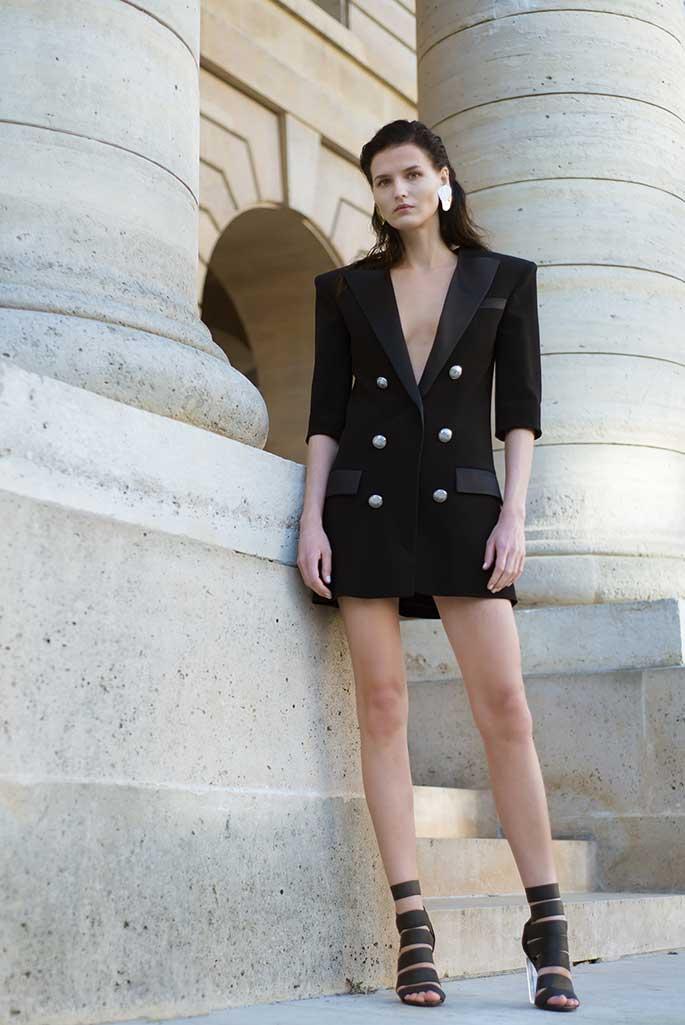 A Balmain spring '19 jacket available to rent at Armarium's Le Bon Marche pop-up.