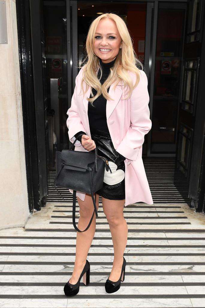 Baby Spice, Emma Bunton, Pink Coat, Black Platform Pumps