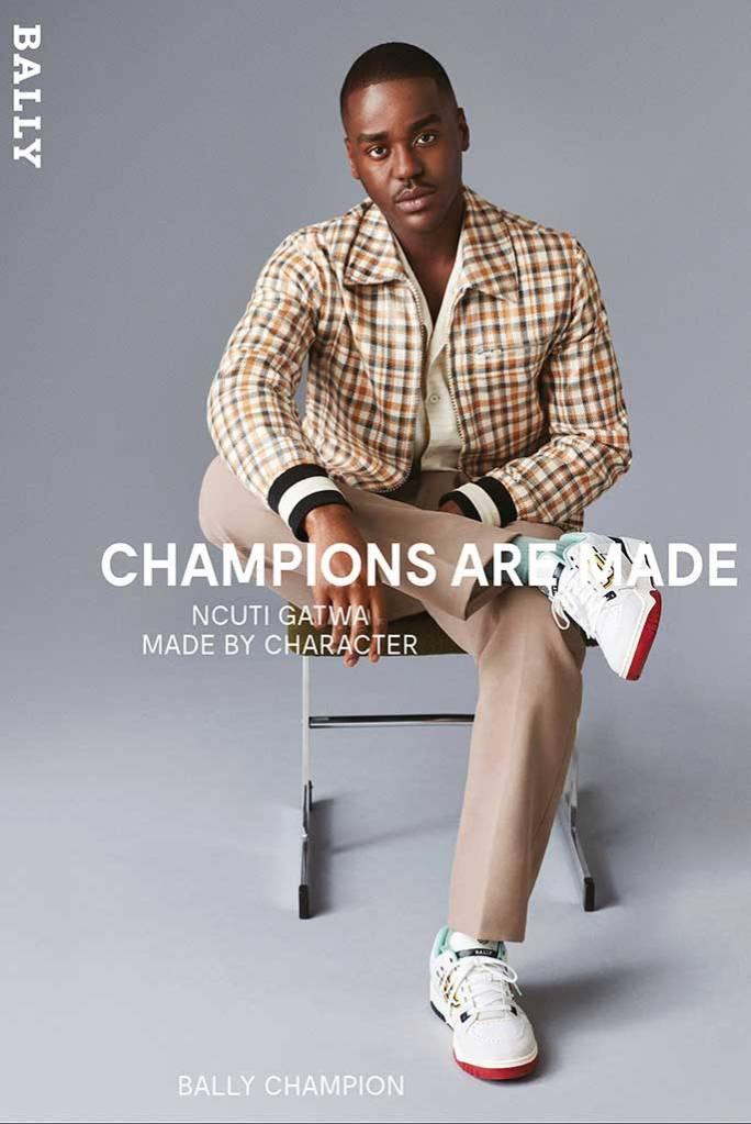 Ncuti Gatwa Bally Champions are Made campaign