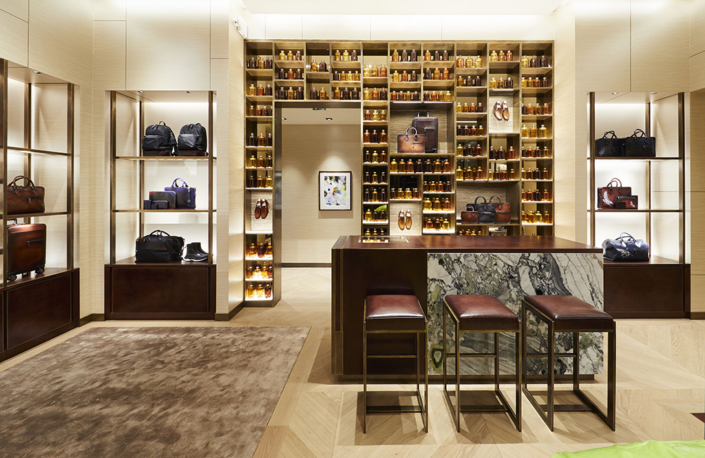 Berluti's new store in Monaco.