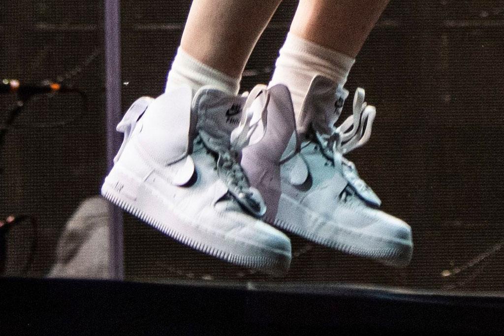nike air force 1s, celebrity shoe style, indio, california, coachella