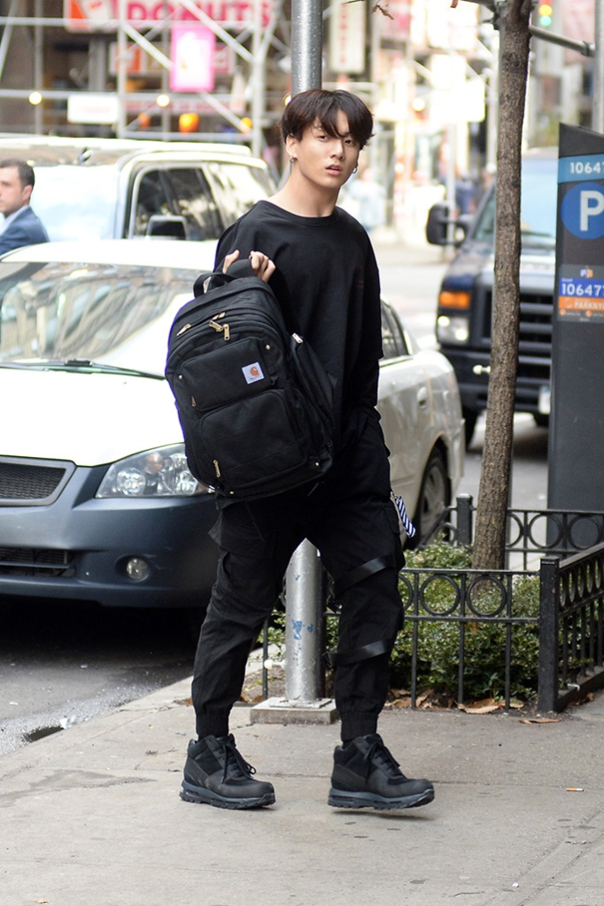 BTS Band Members Jungkook, Jimin, V, Suga, Jin, RM, J-Hope taking a walk in New York City promoting their new single Map of The Soul PersonaPictured: Jungkook,Jimin,V,Suga,Jin,RM,J-Hope Ref: SPL5079601 120419 NON-EXCLUSIVE Picture by: Elder Ordonez / SplashNews.com Splash News and Pictures Los Angeles: 310-821-2666 New York: 212-619-2666 London: 0207 644 7656 Milan: 02 4399 8577 photodesk@splashnews.com World Rights, No Portugal Rights