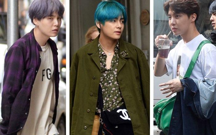Bts Nyc Street Style J Hope Rm V Suga Jin Jungkook Footwear News