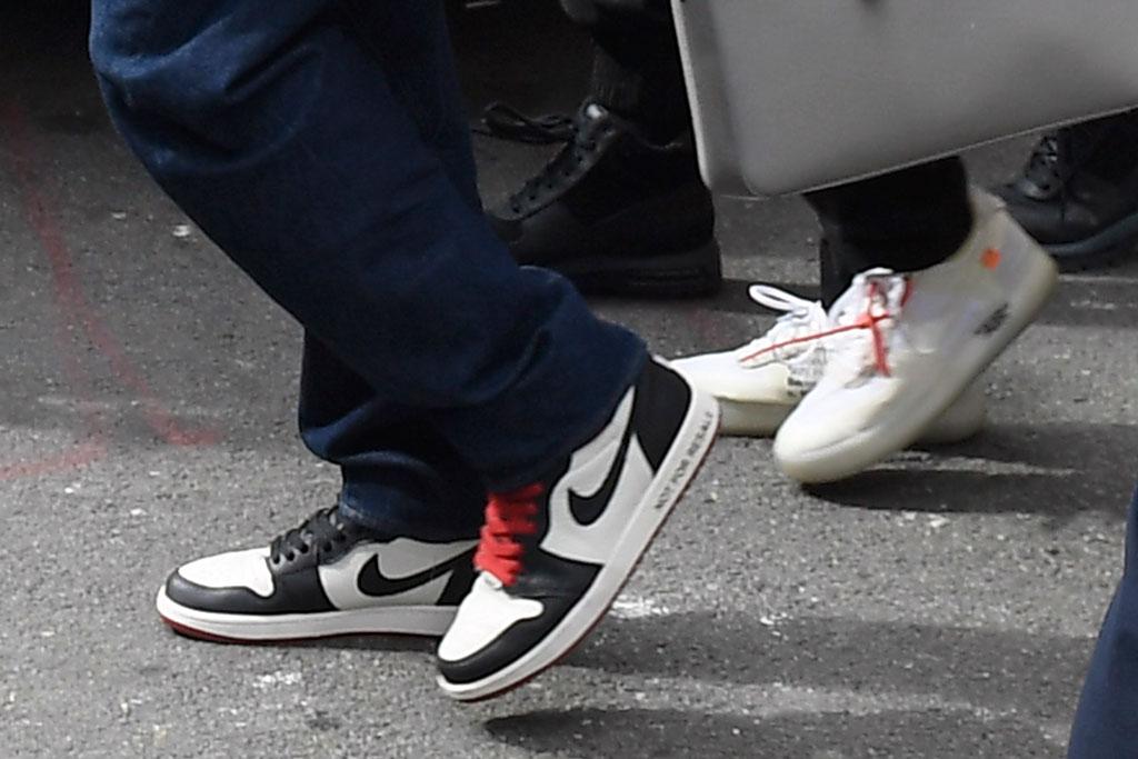 bts, shoe style, nike x off white, air jordan, j-hope jin